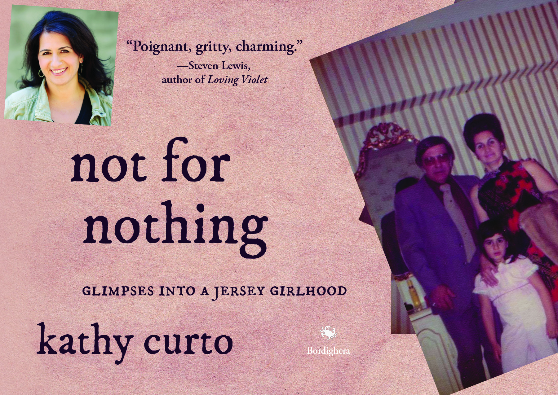 Postcard for Not for Nothing by Kathy Curto