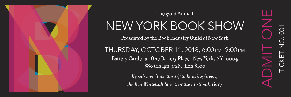 New York Book Show 2018 ticket