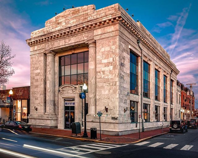 -The Vault -  24,000 sq foot office/retail building located in downtown Red Bank on Broad Street.  #saxumrealestate #commercialspaces #msparkphoto #turnofcentury #realestate #architecture #realestateagent #investment #business #retail #interiordesign #redbanknj #newjersey #jerseyshore #monmouthcountynj #rumsonnj #fairhaven #sunsetarchitecture #stronghold #fortress @saxum_real_estate
