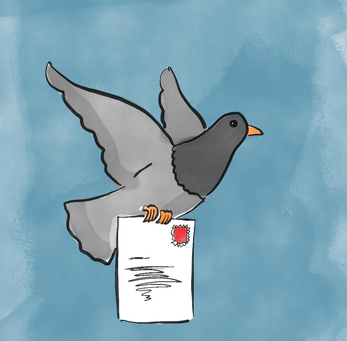 Mindful Art Classes pigeon