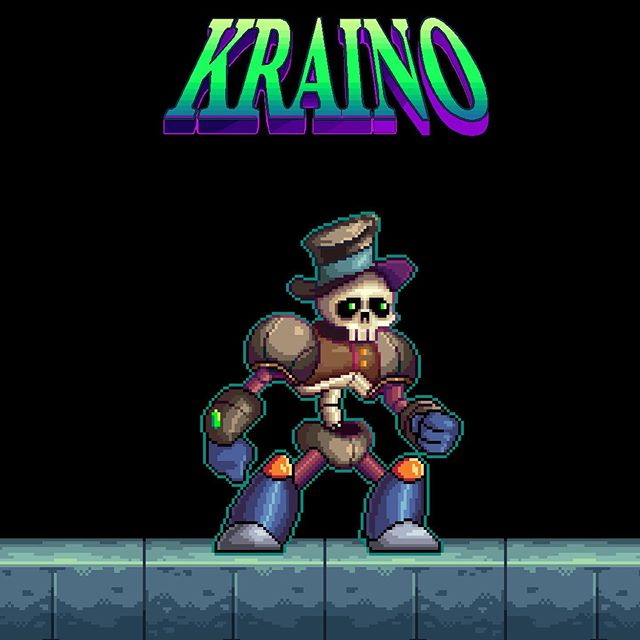 Still messing with design before I start animation. Any thoughts? #Kraino ☠️ • • •  #retro #retrogames #unity2d #unitygames #animation #videogame #16bit  #software #indiegame  #pcgaming #pcgamer #indiegamedev  #gamedev #gamers #steam #instagamer #hibit #beautifulgame #art #digitalart #illustration #graphicdesign #starvingartist #kickstarter #crowdfunding #nintendoswitch #xboxone #playstation4