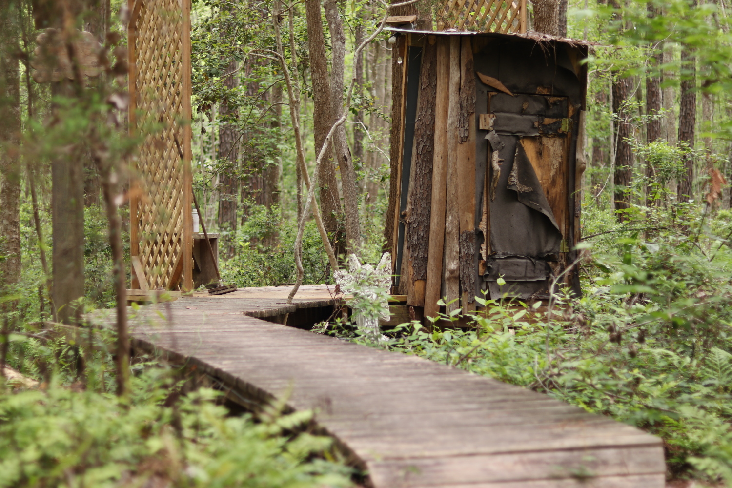 A 'Secluded' shower in the woods