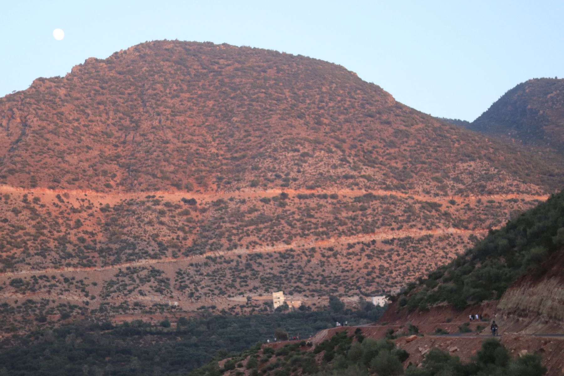 The red hill and watchful moon