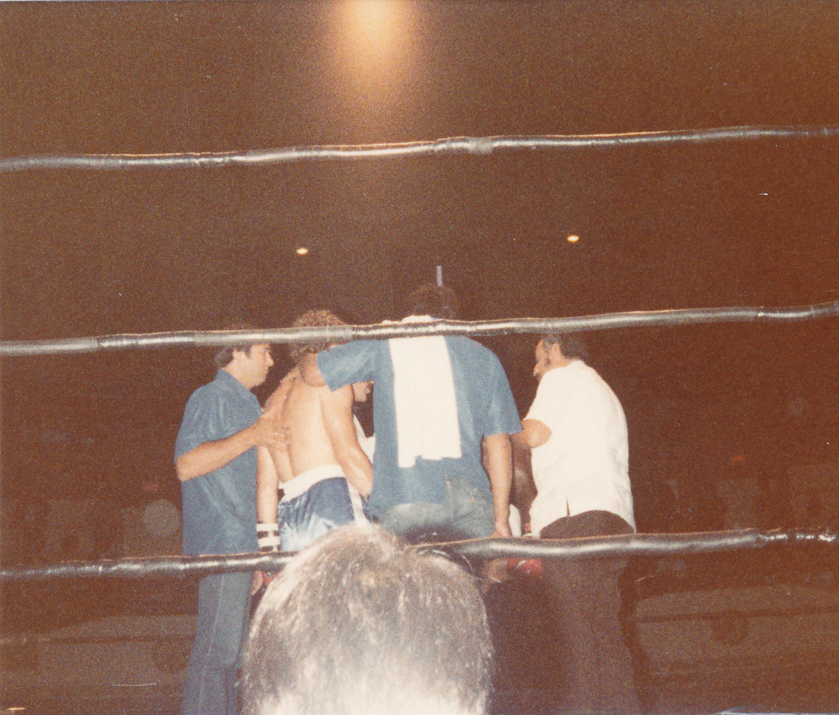 A respite during the Mike Hutchinson bout, 1982 -