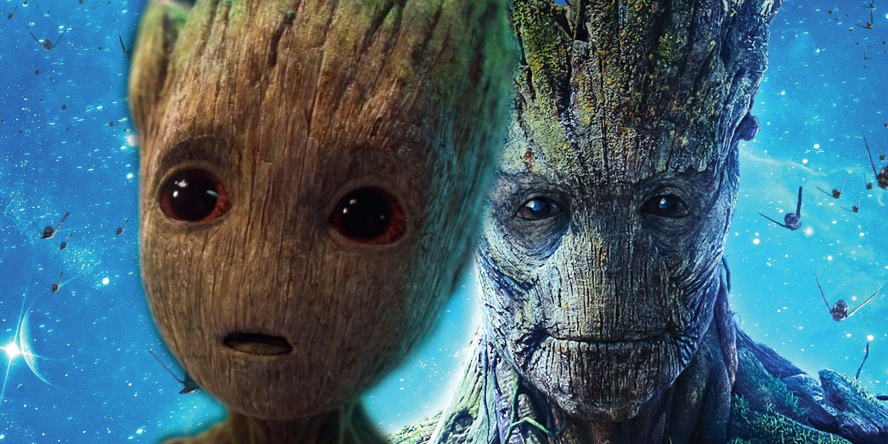 Groot and Baby Groot