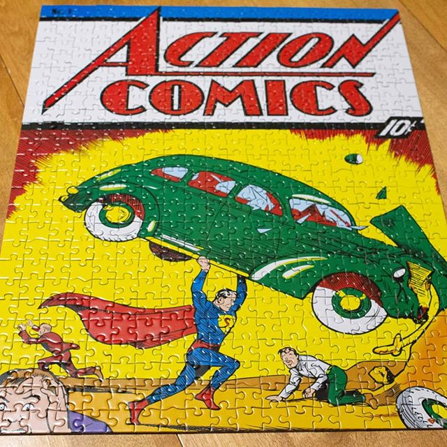 A wild bonus video appears! Check out this time lapse of @redmondt11 putting this puzzle together of the iconic Action Comics number 1! #TimNTonyTalk #Superman #puzzling #actioncomics #puzzle #newgirl #bonus Link in our bio!