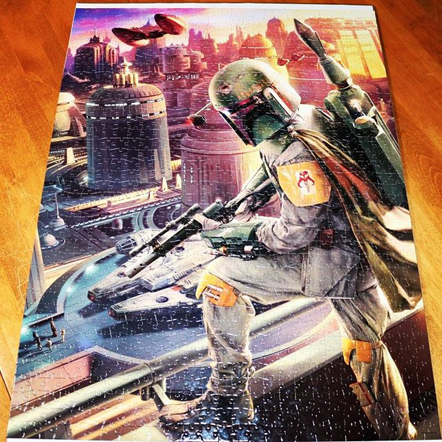 Bonus Video! Check out another time lapse video from @redmondt11 of his Boba Fett puzzle! #starwars #bobafett #puzzling #timntonytalk #podcast Link in our Bio