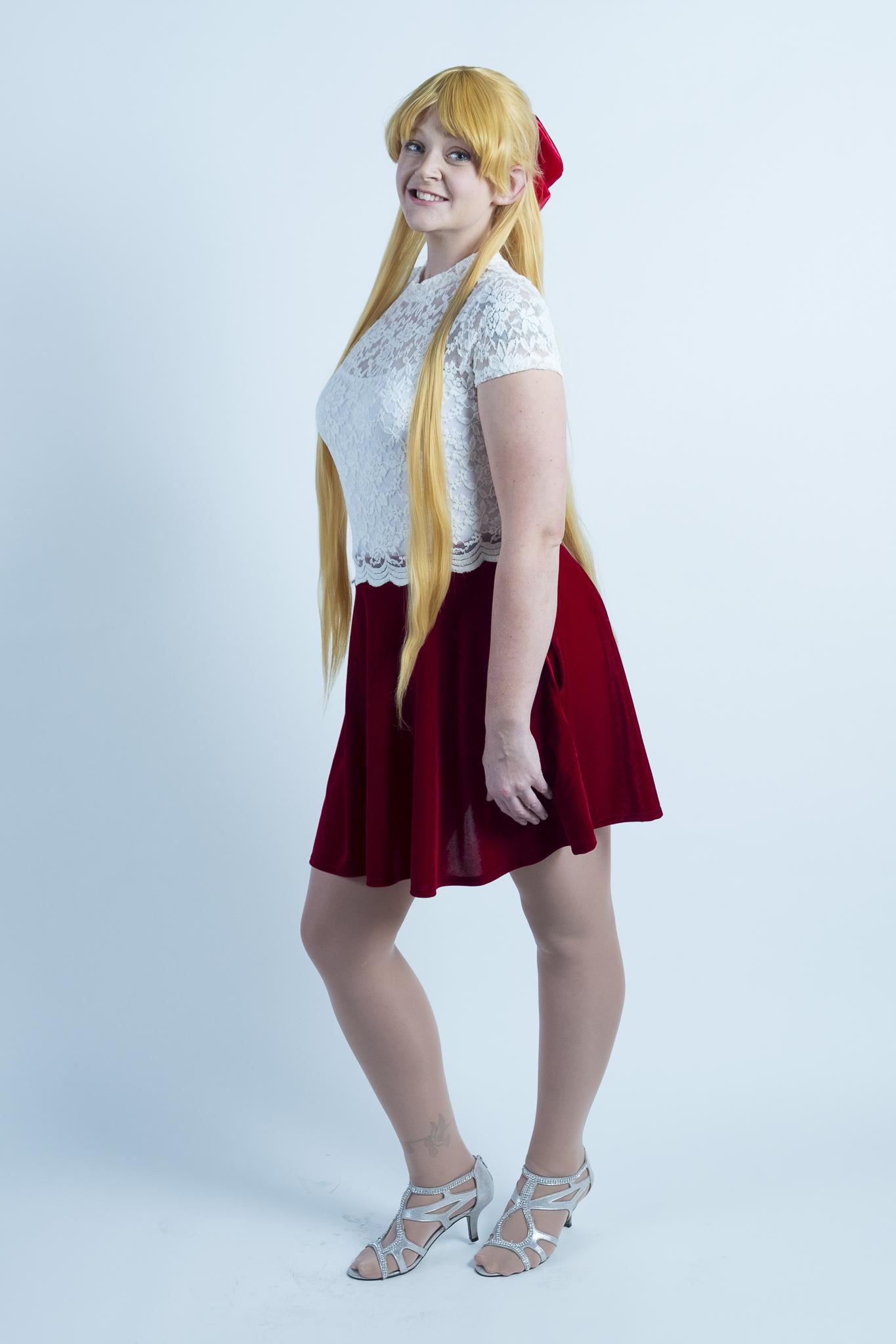 Allybelle Cosplay in Minako Aino cosplay at Waveform Austin
