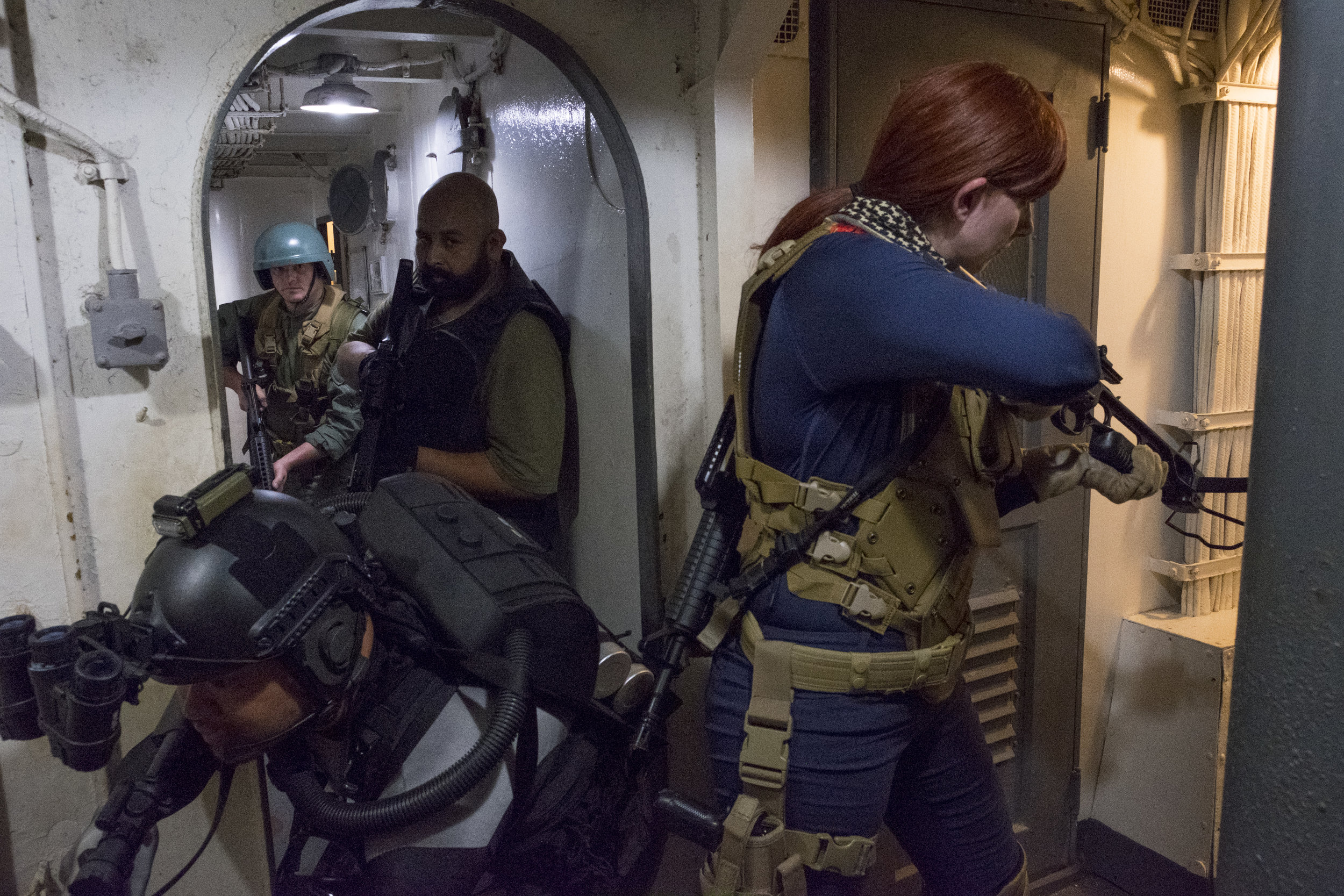 The Fighting 788th in GIJoe cosplay on the USS Stewart