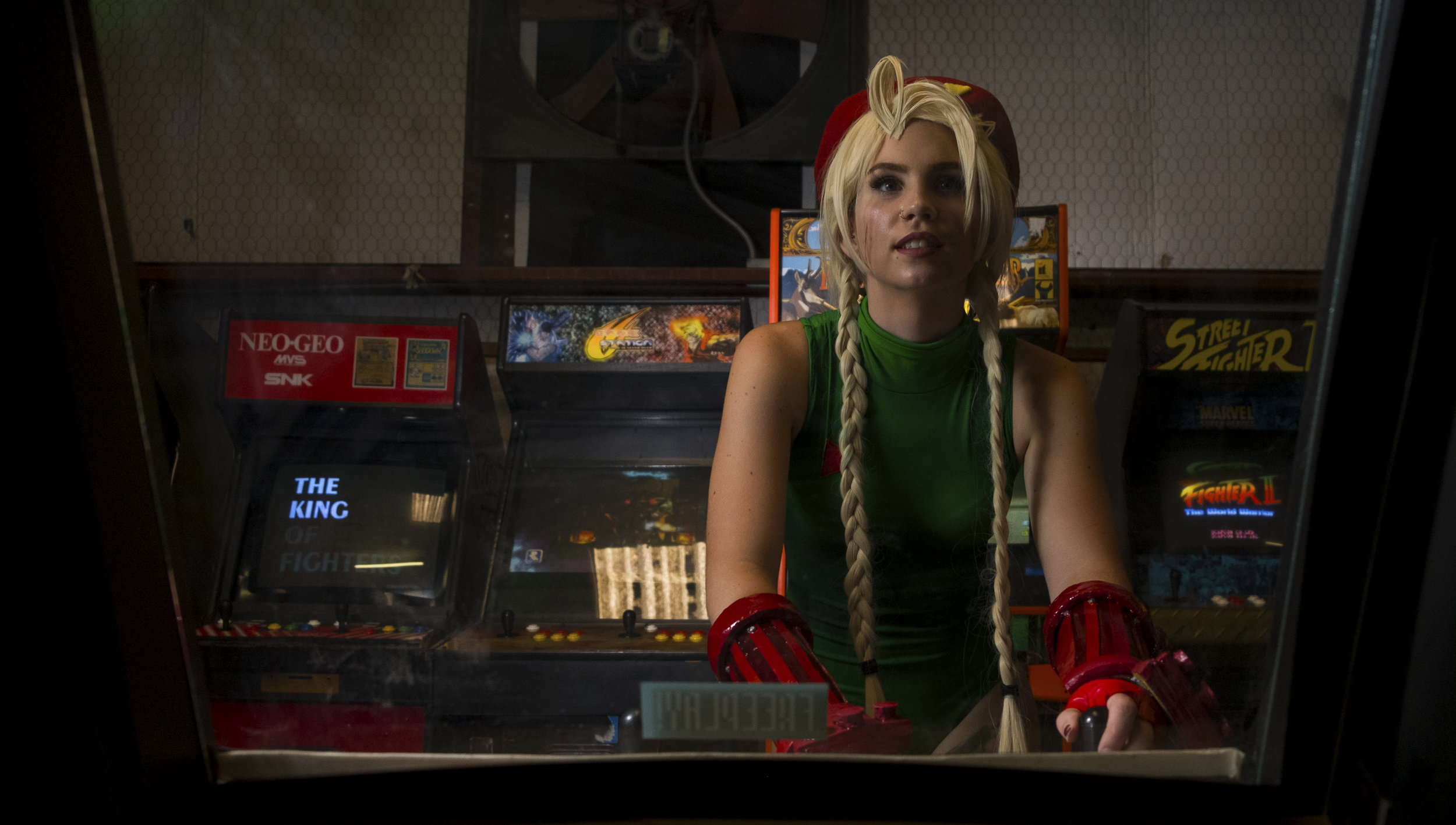 Lilfaun Cosplay in Cammy cosplay at Texas Gamers Lounge