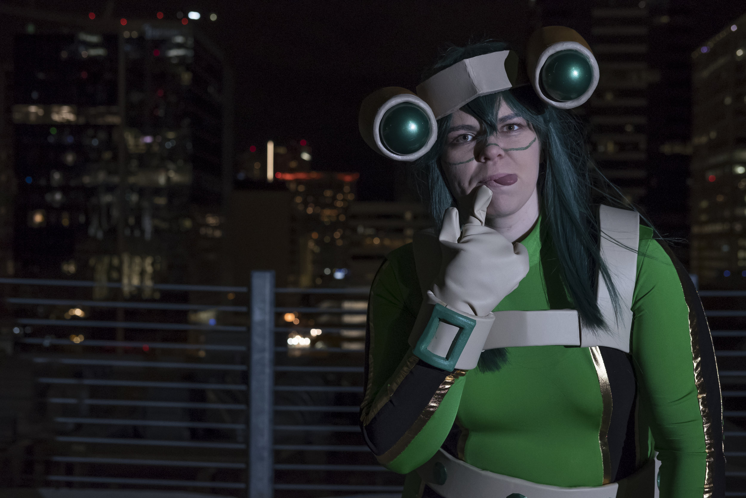 Tacocat Cosplay in Froppy cosplay in downtown Austin