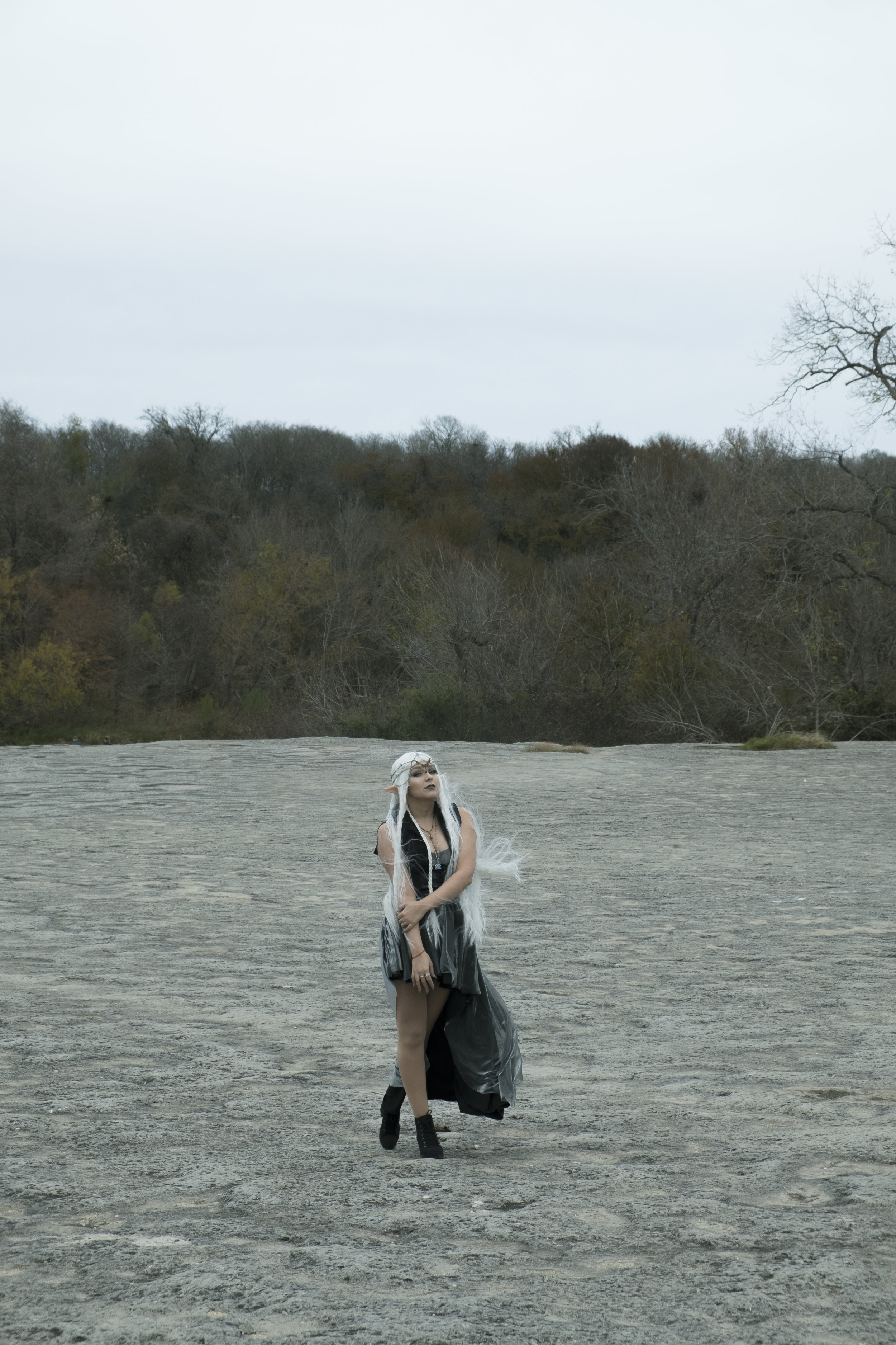 Mermaid Child in Aenwynn cosplay at McKinney Falls.