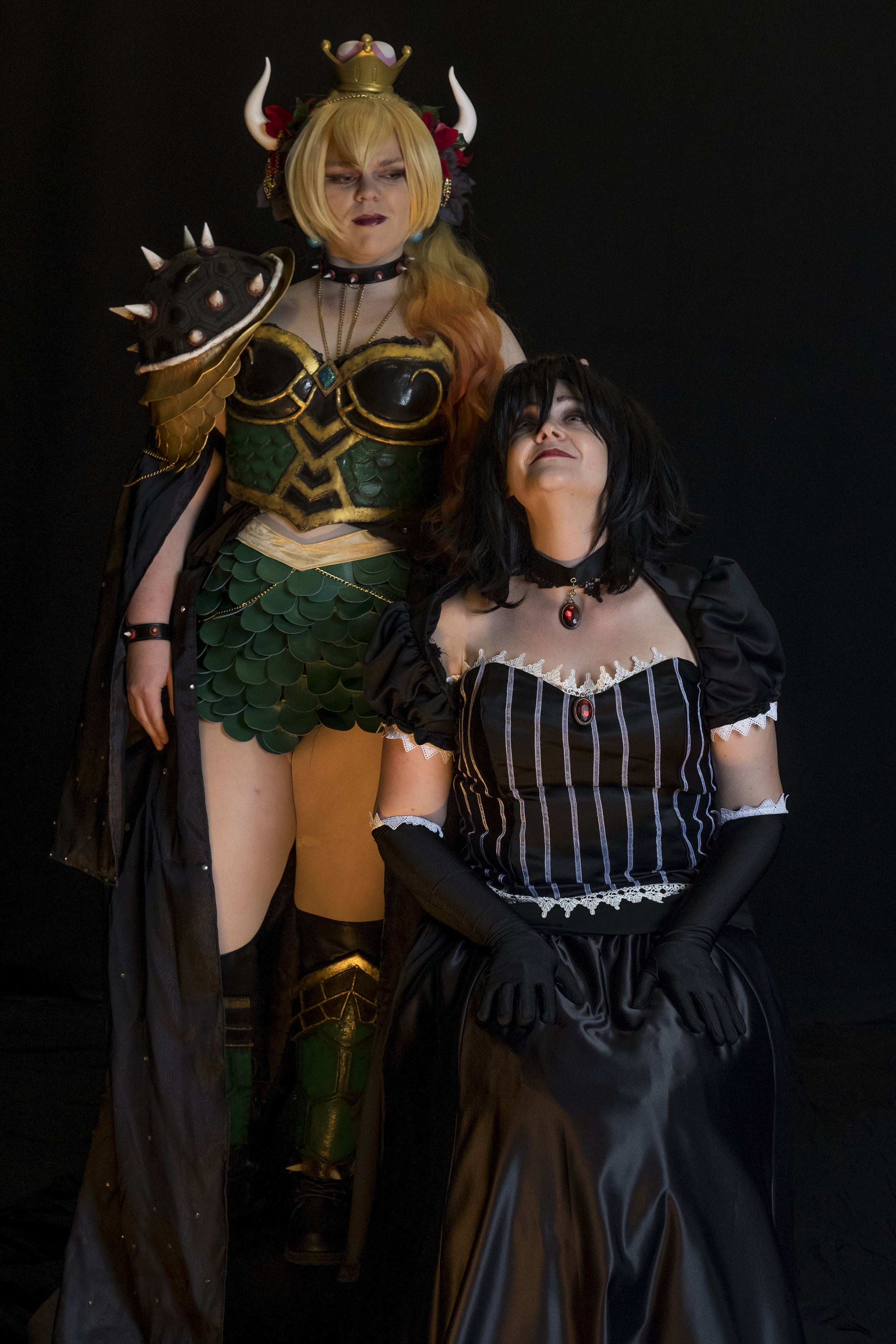 Tacocat Cosplay cosplaying as Hannah Alexander's Bowsette and Allybelle Cosplay cosplaying as Ann4rt's Chompette