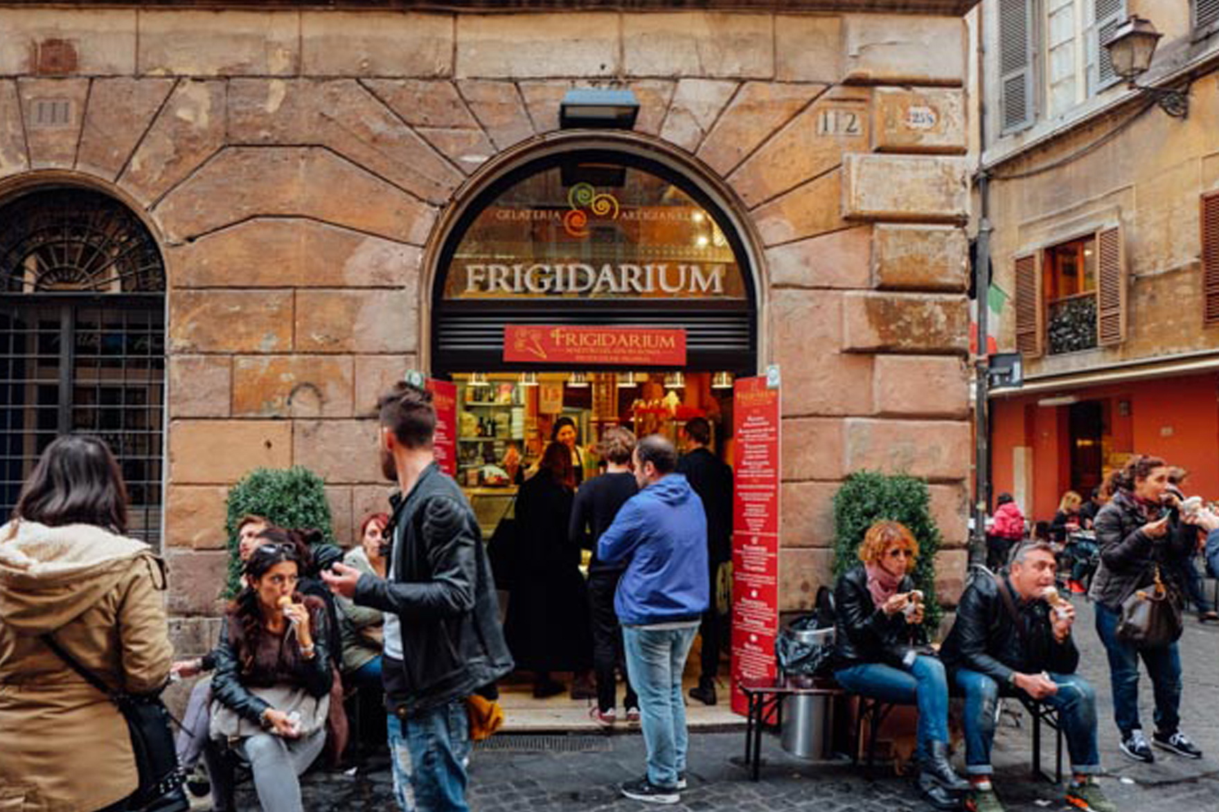 frigidarium - Amazing gelato dipped in chocolate with a cookie on top. An absolute must-visit for gelato-lovers.