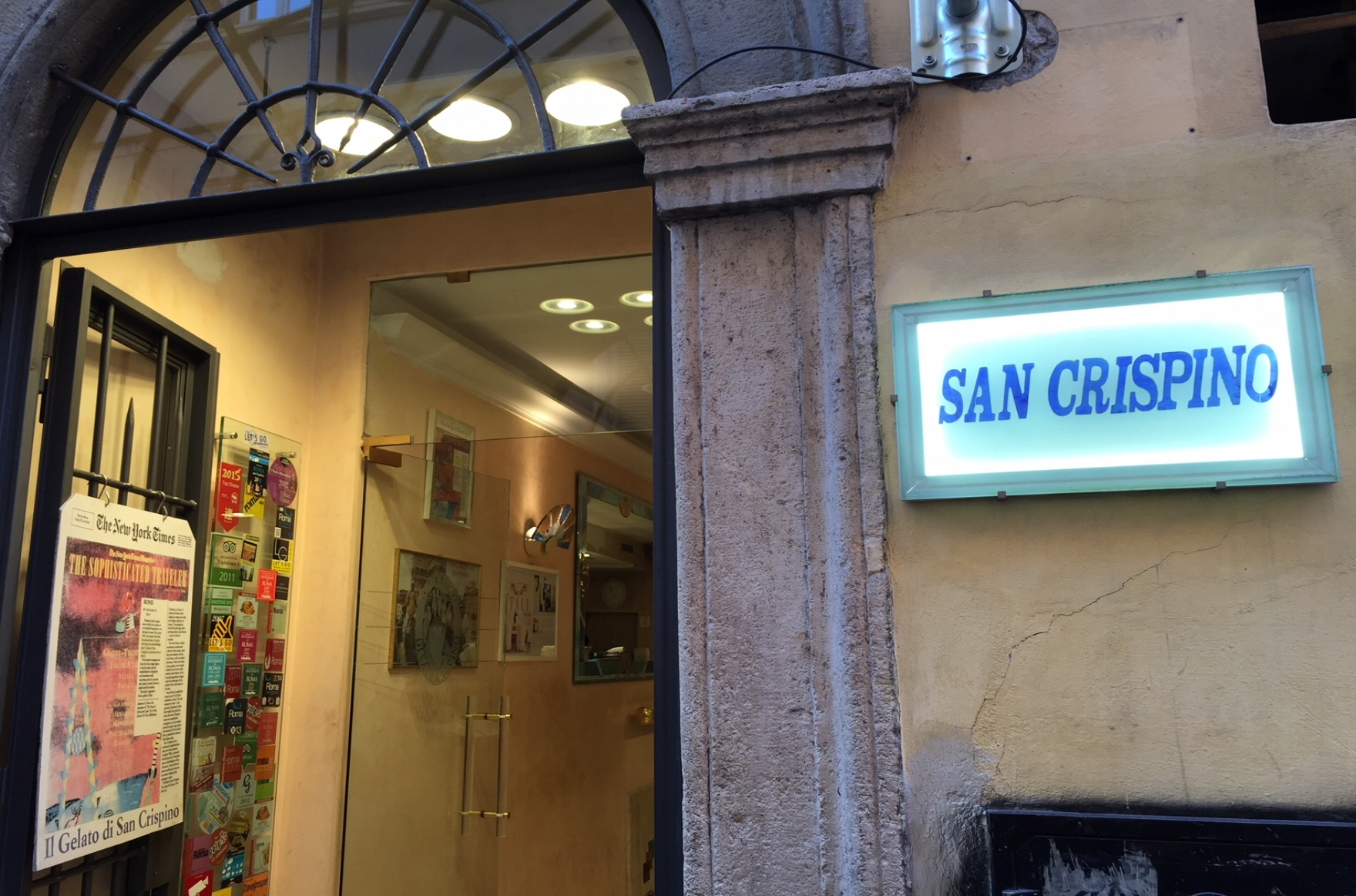 san crispino - Arguably the best, and most famous (partially due to the name drop in Eat,Pray,Love), gelato shop in town. The flavors are all natural and seasonal. This is a must visit if you're in the Trevi Fountain/Spanish Steps area of town.