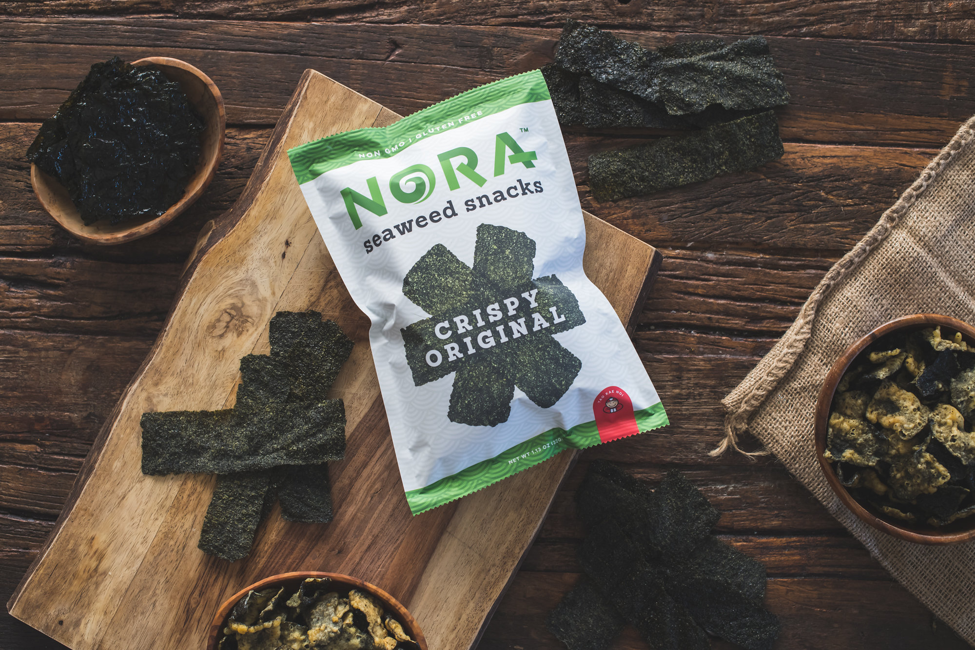 Crispy Original - Delicate but satisfying, Nora Crispy Seaweed will send your tongue spinning.