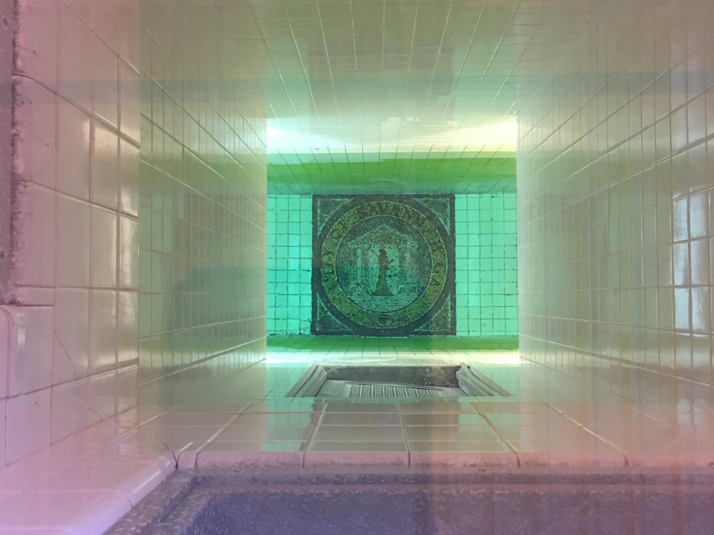 City of Savannah Treatment Plant Water Clarity Tube.JPG