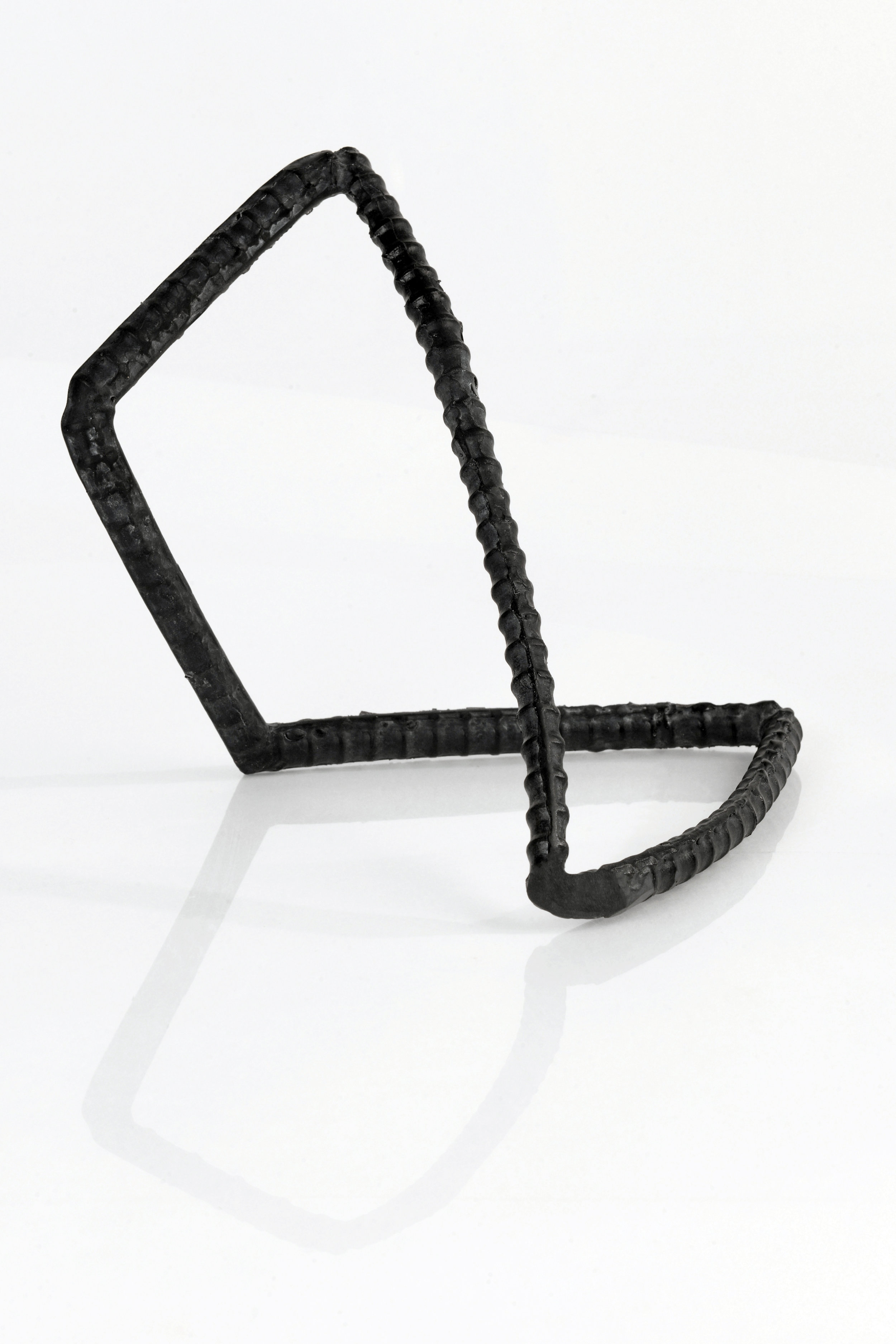"Untitled , cast lead crystal (black glass), 10"" x 10"" x 12""  Collection of the Ernsting Stiftung Museum"