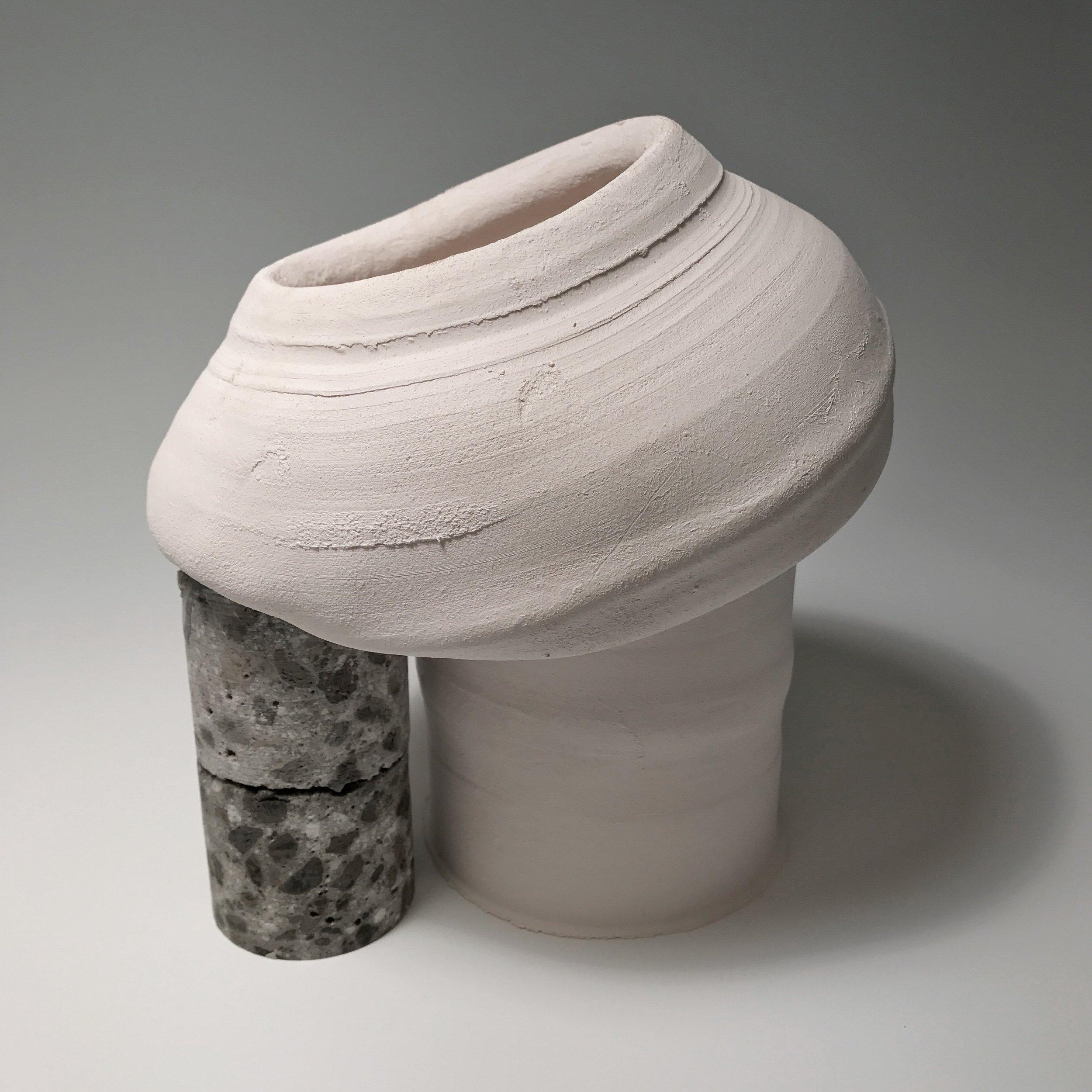 """Core Sample , Stoneware and Concrete, 10"""" x 7"""" x 10"""""""
