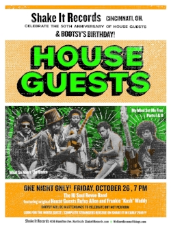 Shake It Records Poster House Guests Bootsy Collins