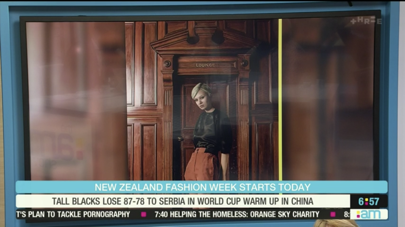 Blue Steel: UneeQ's virtual influencer features on the AM Show.