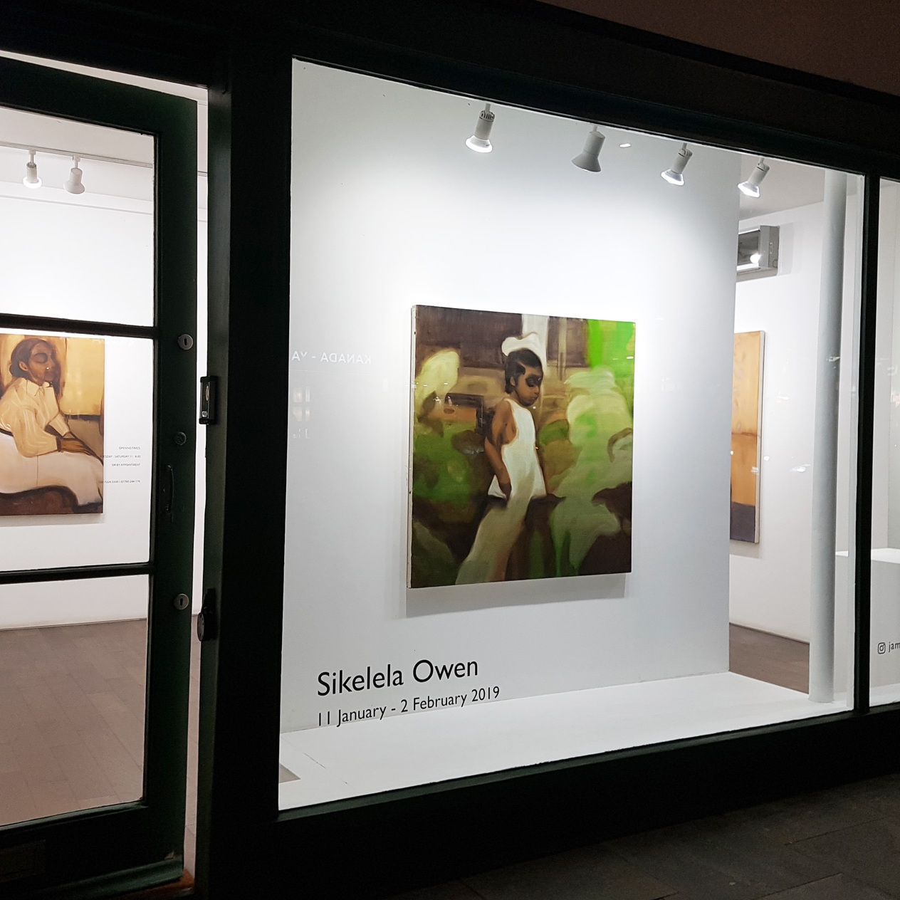 Sikelela Owen - Solo Exhibition at James Freeman January 2019 click for installation views and images of artworks