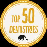 2018 Top 50 Dentistries Award from Mama Bear Shirt Co.