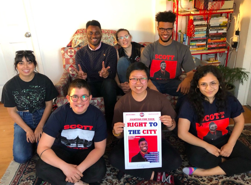 SHAUN SCOTT FOR SEATTLE CITY COUNCIL - Campaign workers for Shaun Scott, a candidate for District 4 of Seattle's City Council, ratified a contract in 2019.
