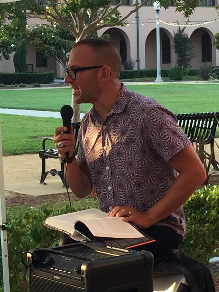Clarion instructor and former student Cory Doctorow reads at downtown San Diego's Liberty Station