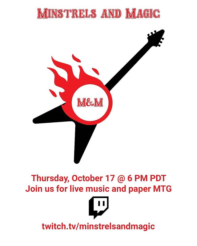 Minstrels and Magic presented by DKP Accessories goes live for the first time Thursday, October 17th @ 6 PM PDT! Come check out the #dragonclaw in action and stay for some live music and Core 2020/ Throne of Eldraine Preconstructed duels!