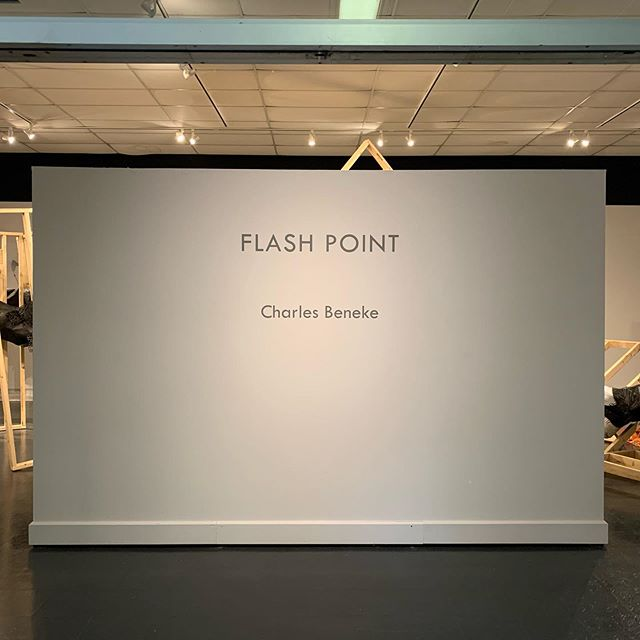 Flash Point, Birmingham Southern College, Durbin Gallery, October 4 - 30,  2019. Thanks to an amazing group of students and faculty led by @shook138 for a fantastic week and helping make this rough beast happen! #installationart #printmaking #screenprint #screenprinting