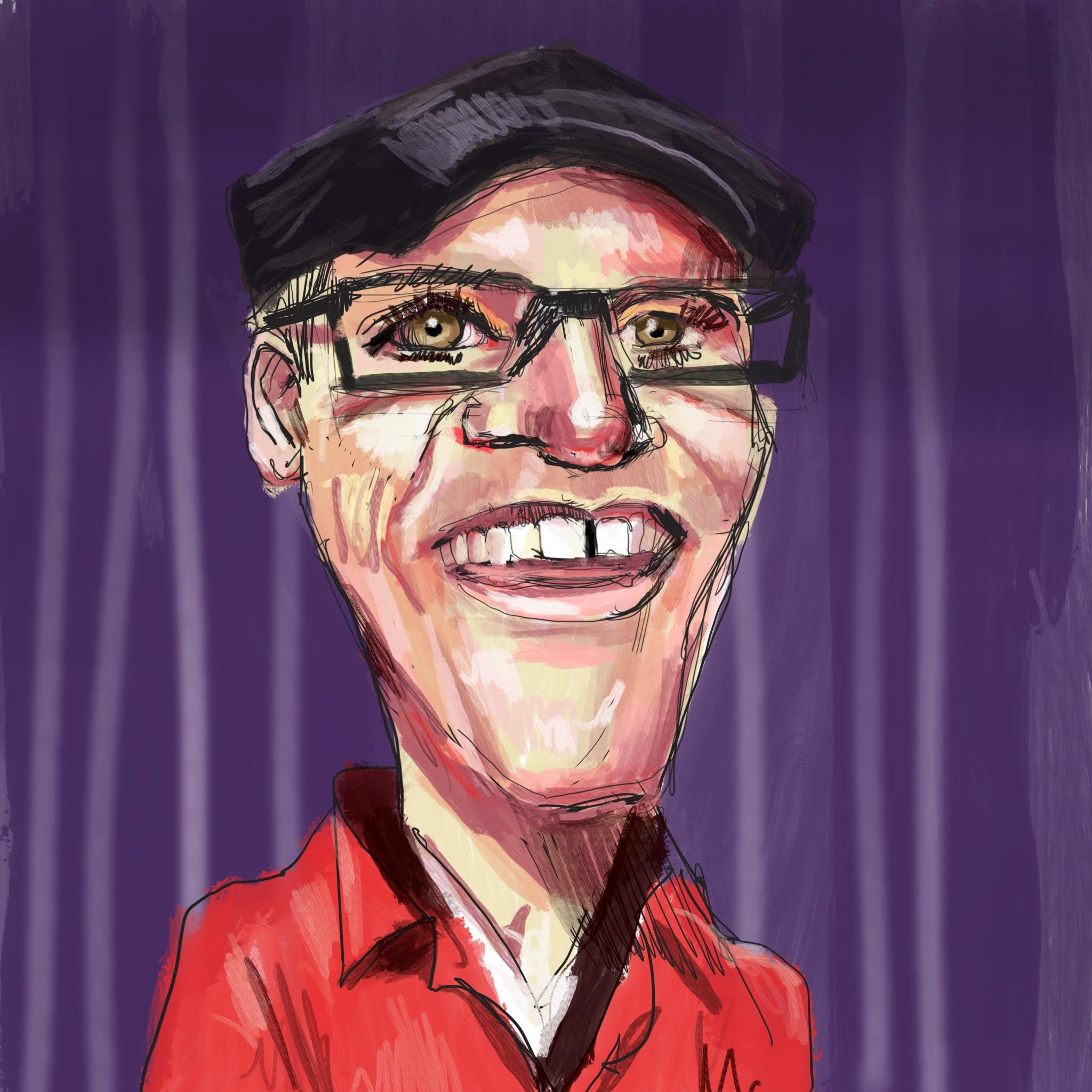 Greg Fitzsimmons caricature