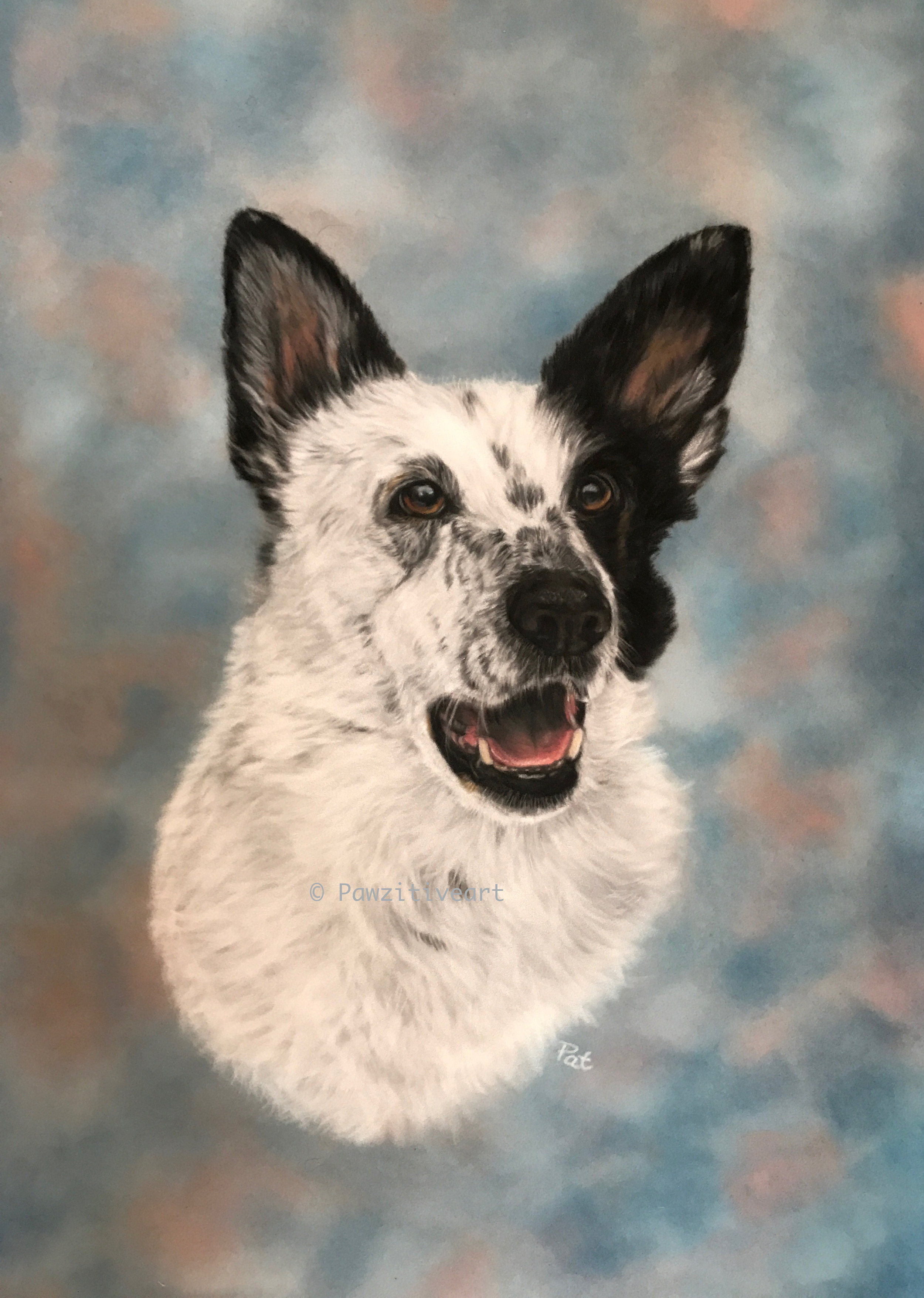 The best memory I could ask for. - Pat truly captured Flynn's personality in his portrait. He passed away in 2017, at the ripe old age of 16. His portrait reminds us of all of the joy and laughter Flynn brought into our lives.- Danielle B.
