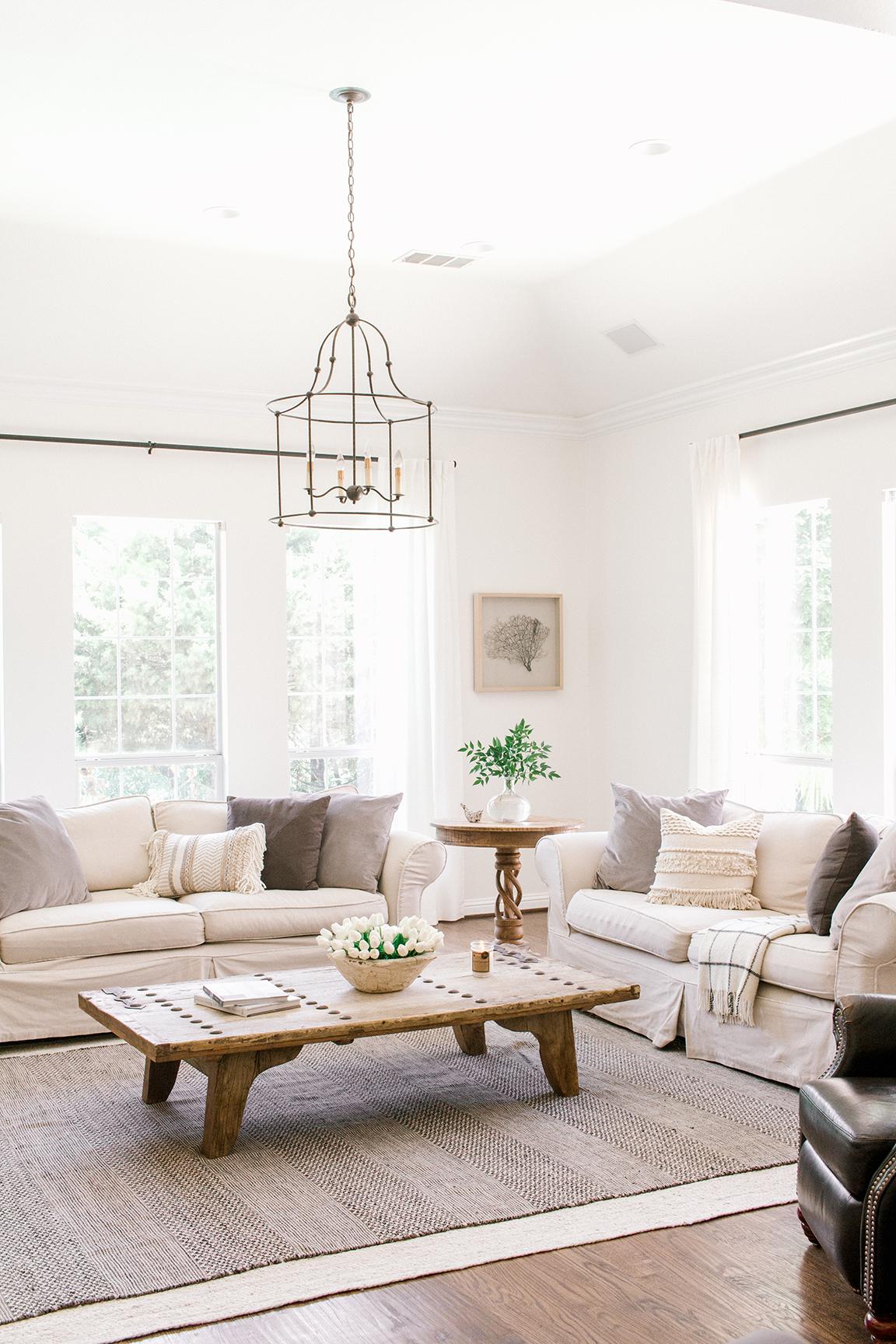 Coastal Farmhouse Living Room Reveal — Farmhouse Living