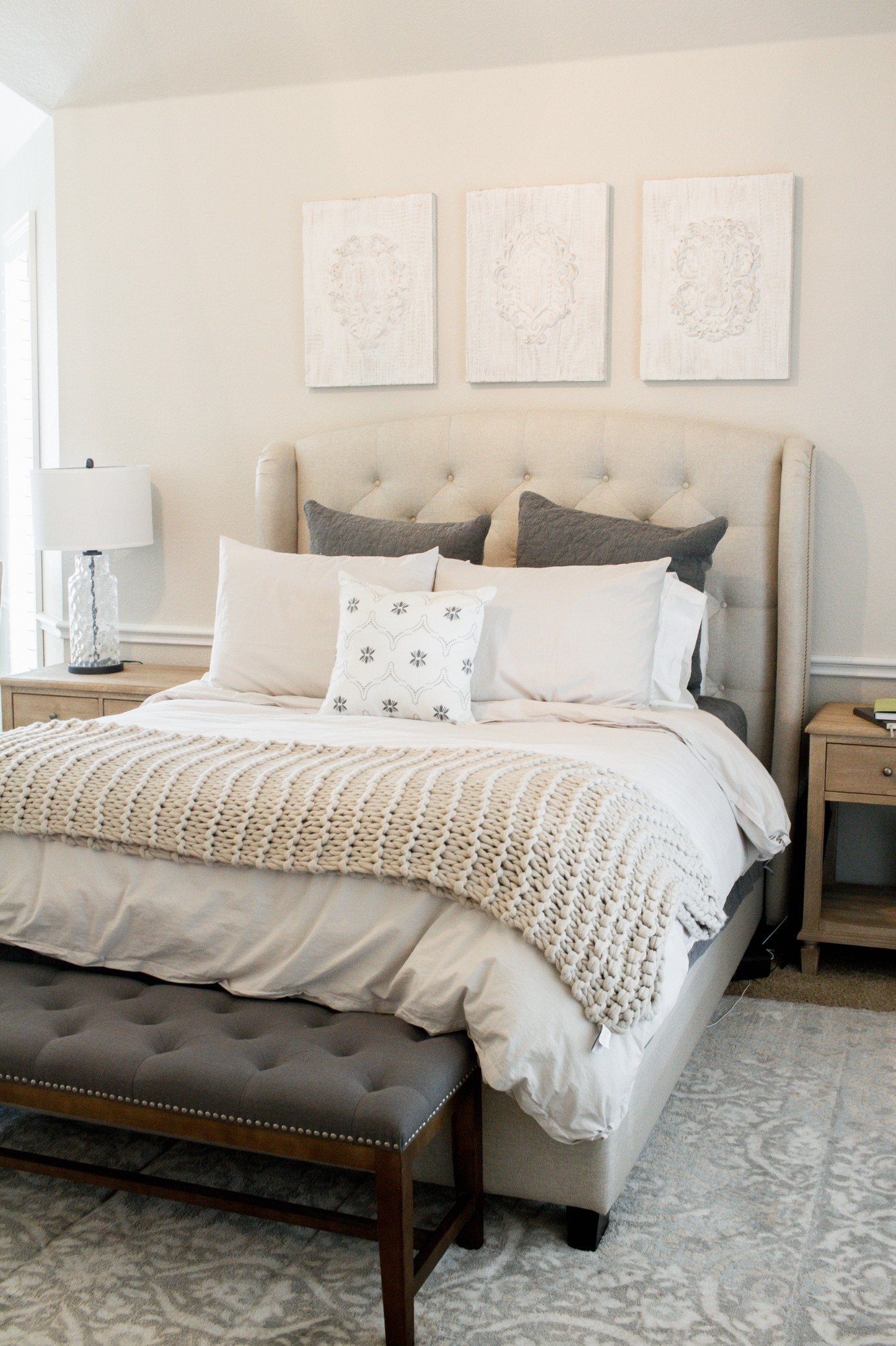 Get The Look Cozy Neutral Master Retreat Farmhouse Living
