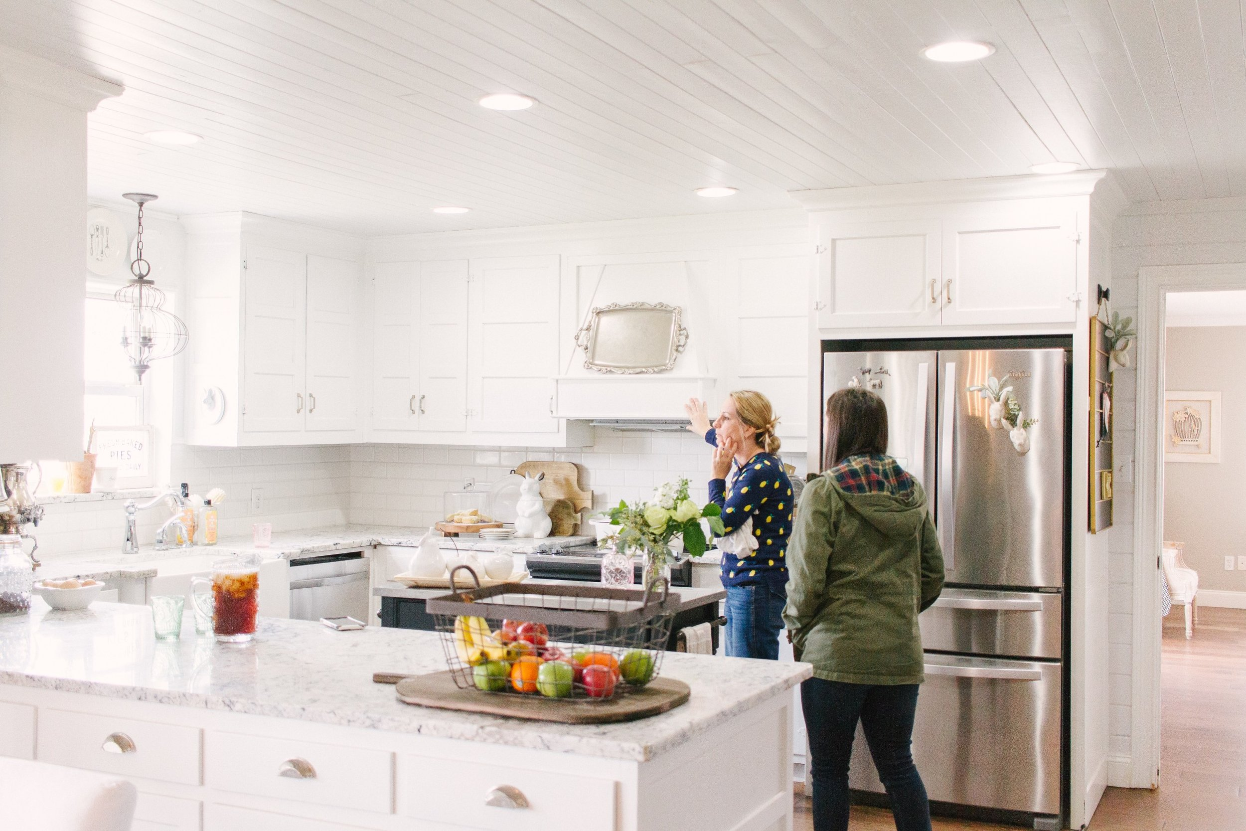 My Little White Barn Home Tour - Spring Decor Inspiration - Kitchen