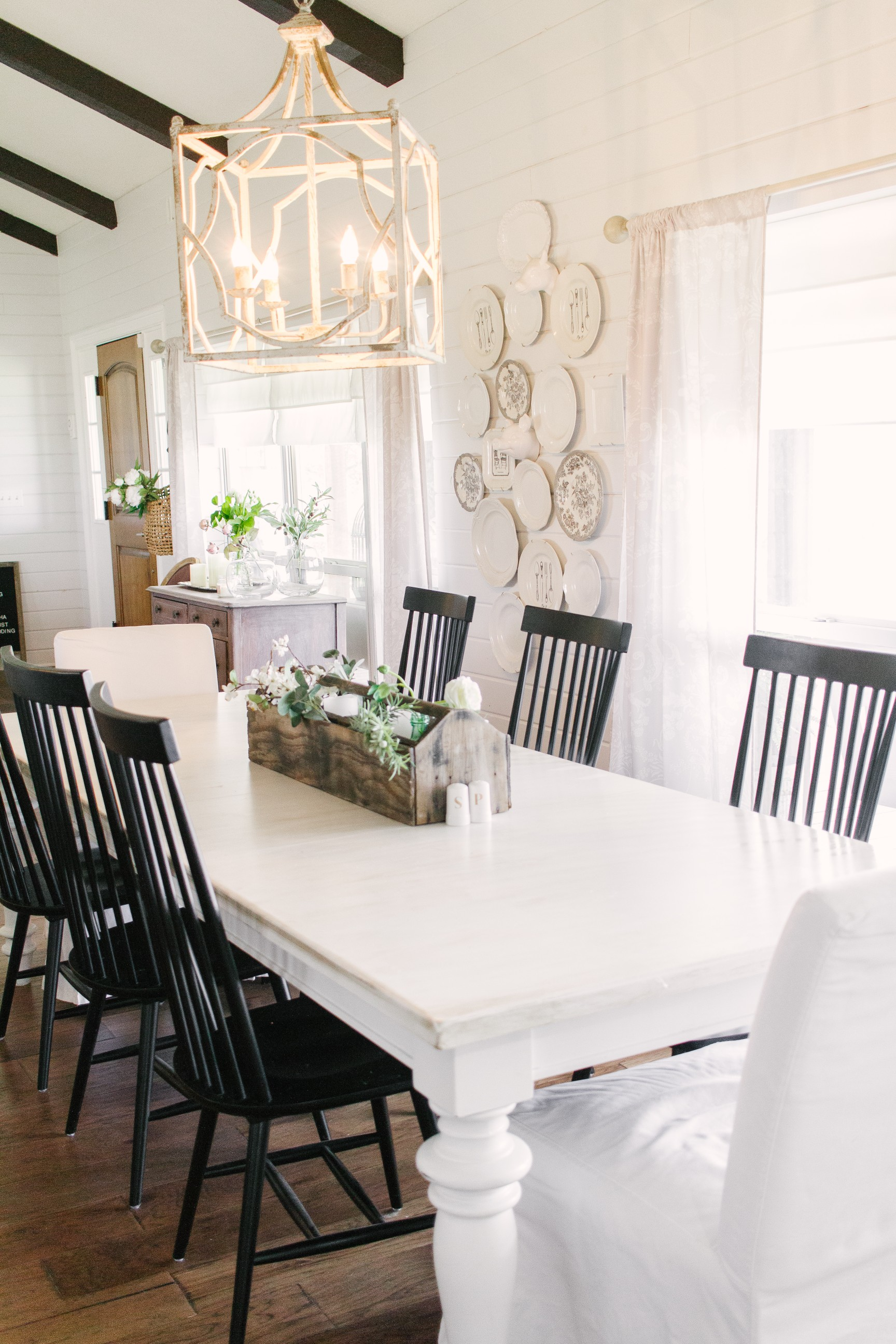 My Little White Barn Home Tour  - Spring Decor Inspiration - Dining Room Table