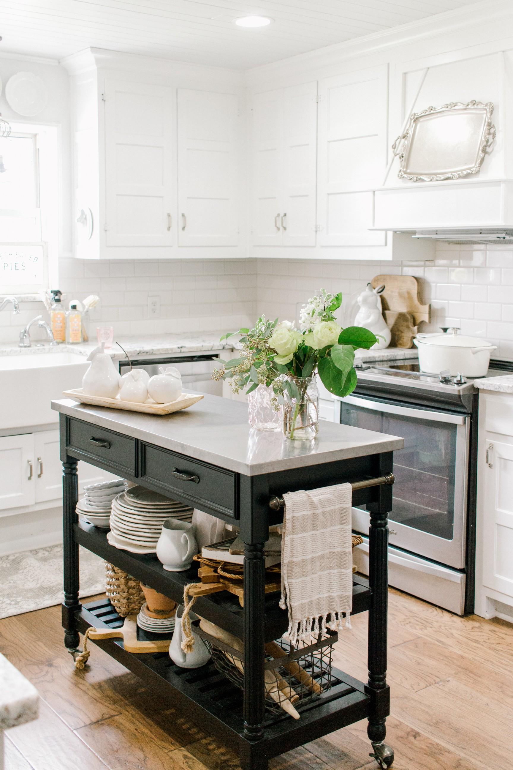 My Little White Barn Home Tour  - Spring Decor Inspiration - Kitchen