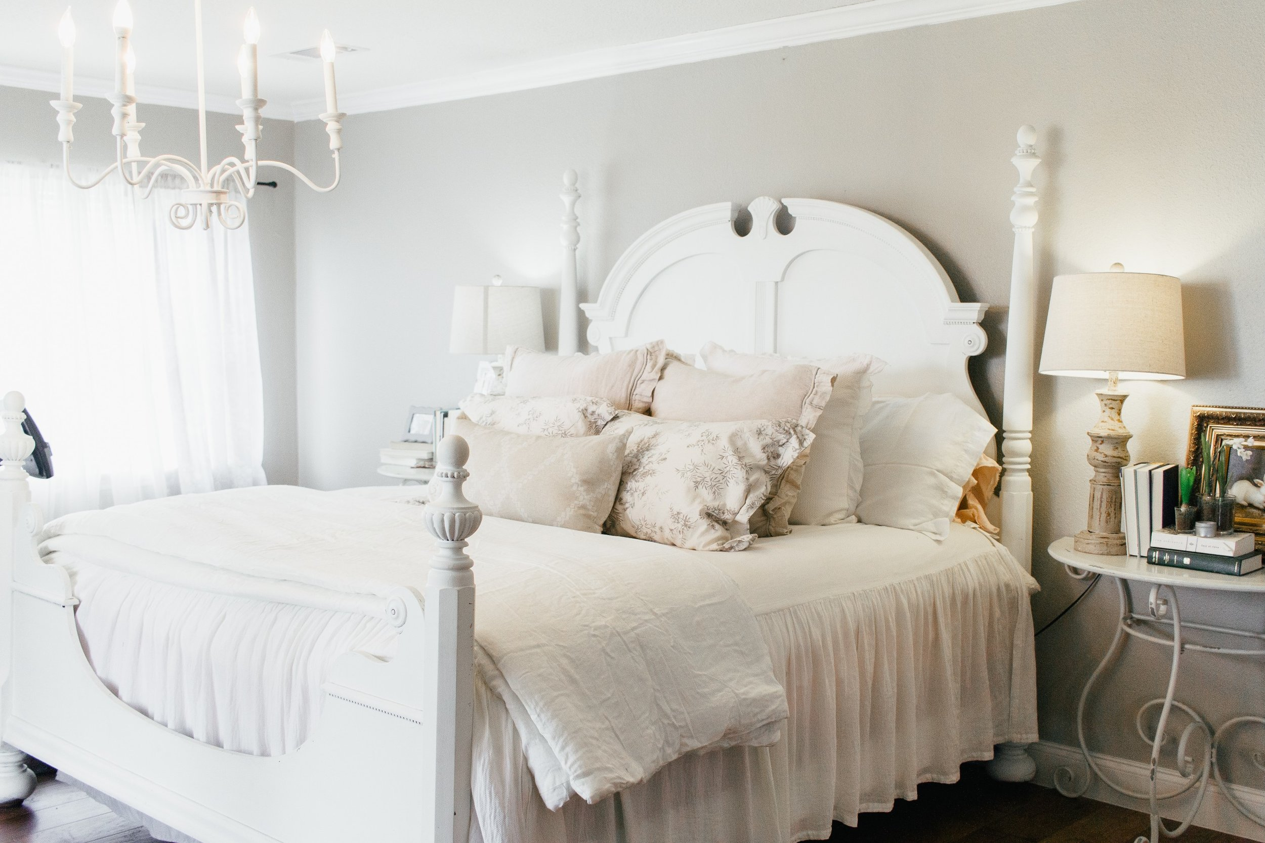 My Little White Barn Home Tour  - Spring Decor Inspiration - Master Bedroom