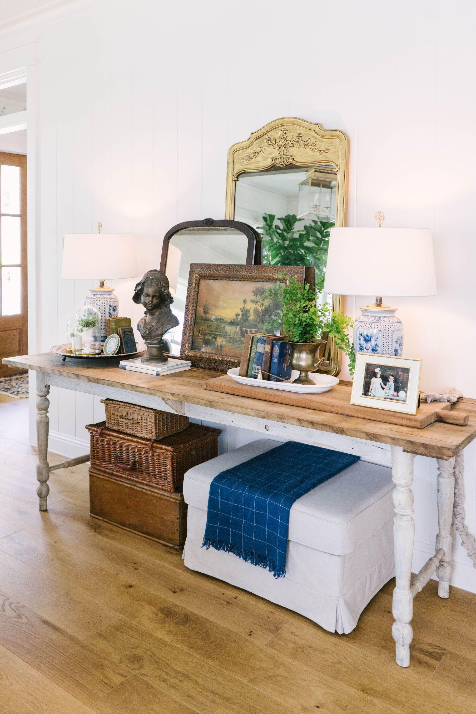 Classic Farmhouse Home Tour - Layered Mirrors - Vintage Decor