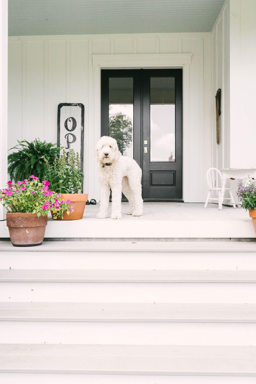 Classic Farmhouse Home Tour - Modern Farmhouse Exterior - Black and White