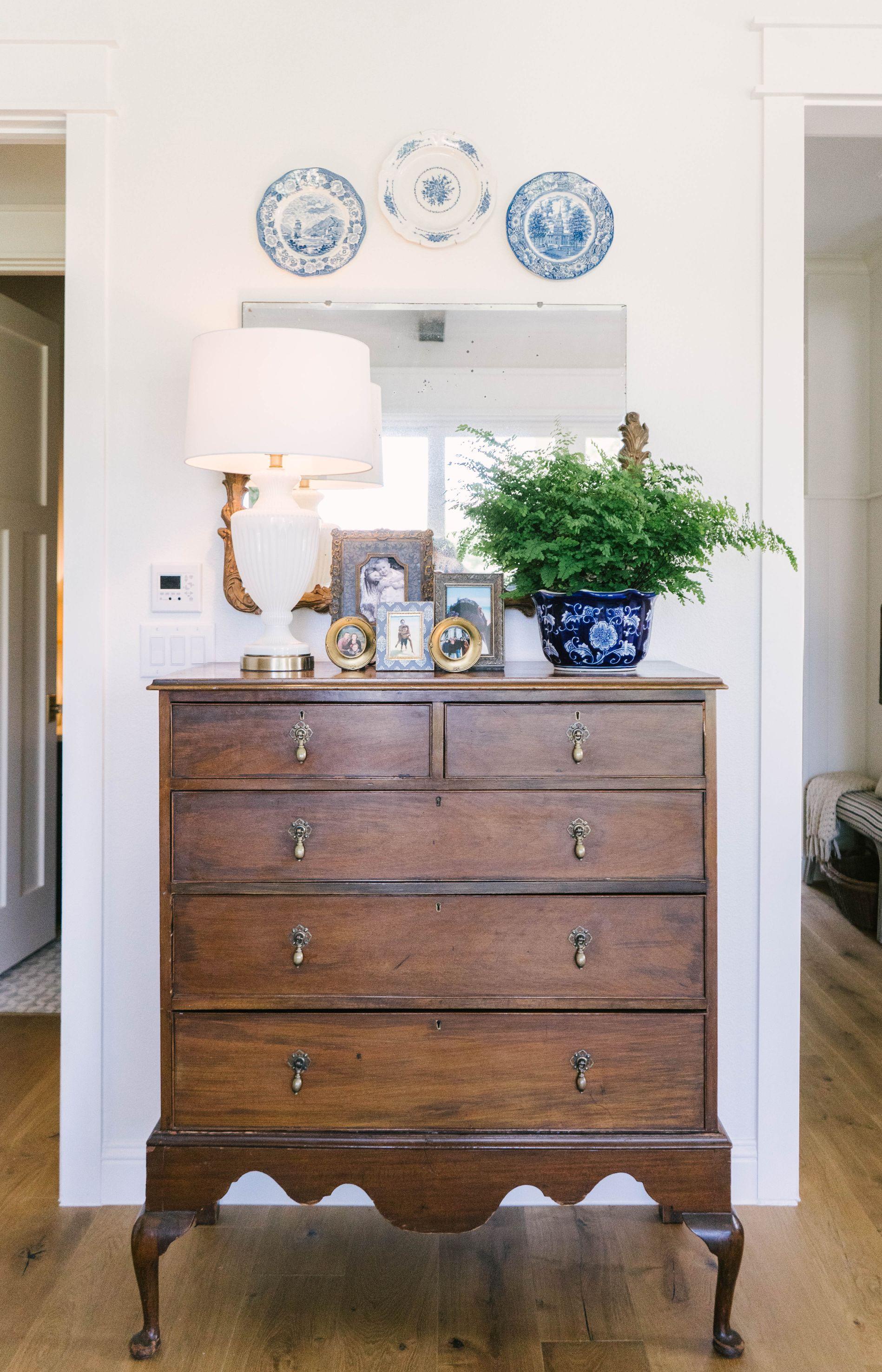 Classic Farmhouse Home Tour - Master Bedroom - Vintage Dresser