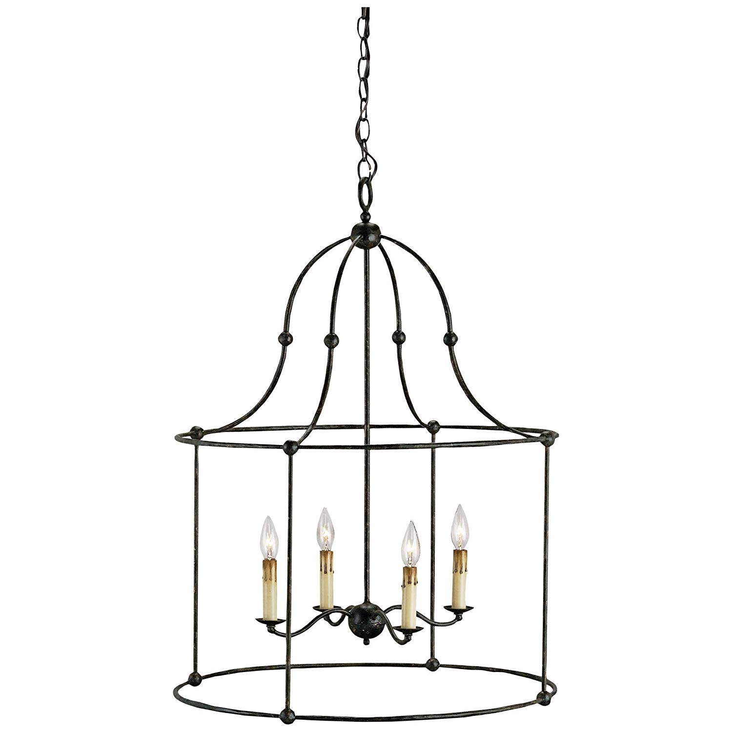 Currey and Company 9160 Fitzjames - Four Light Hanging Lantern, Mayfair Finish.jpg