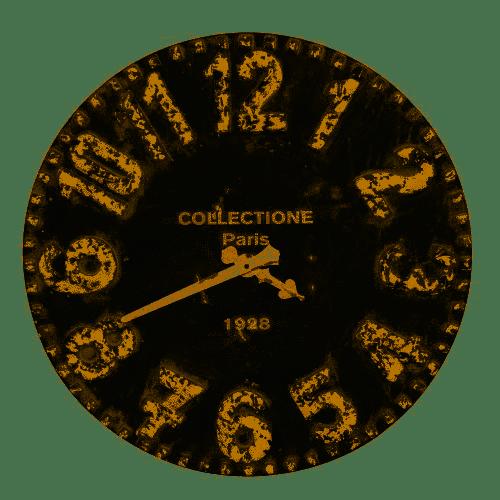 Kalalou Black and White Wooden Wall Clock.png