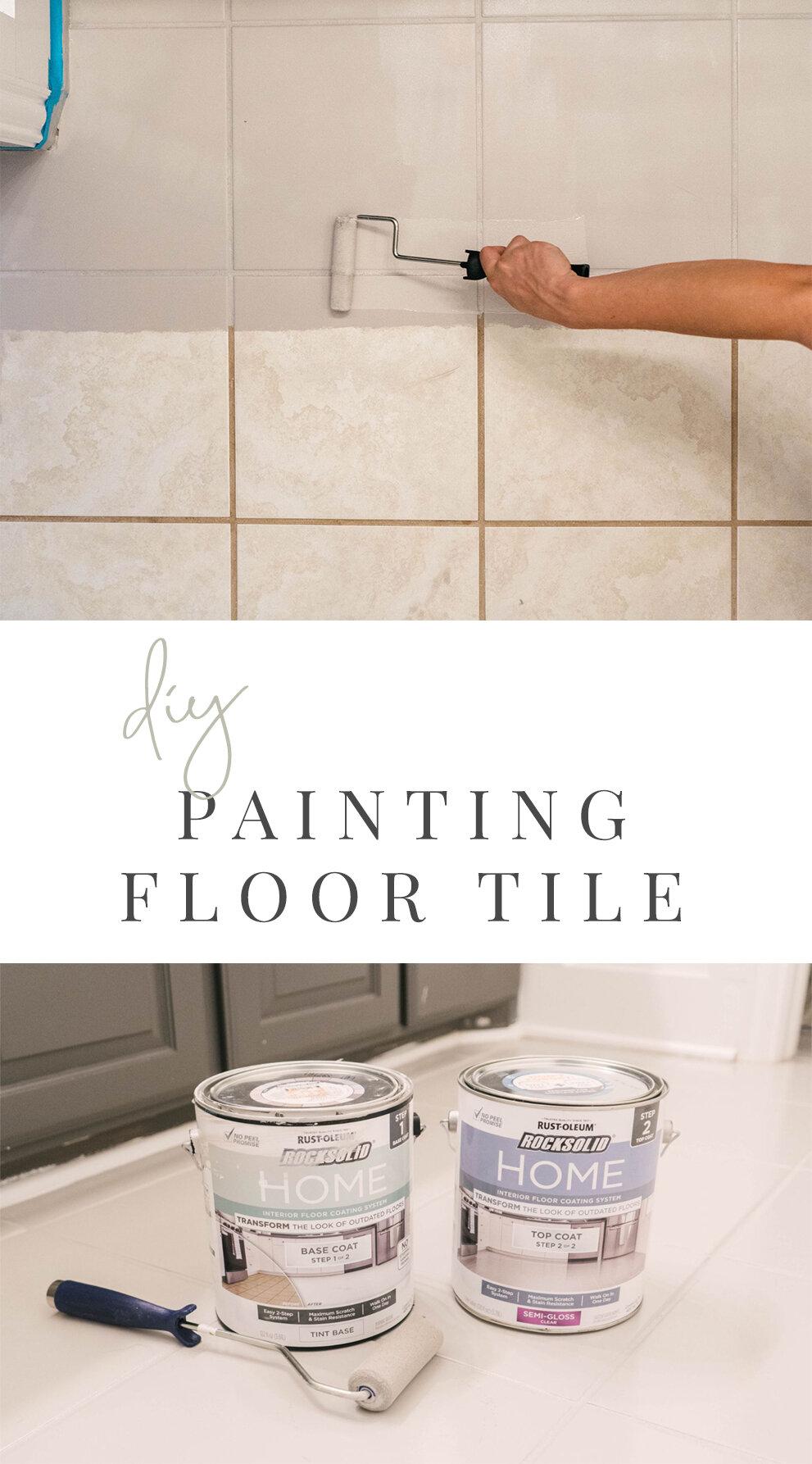 DIY How to Paint Ceramic Floor Tile — Farmhouse Living