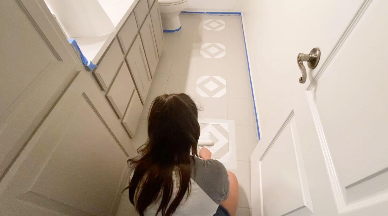 DIY油漆瓷砖地板,带模板2.jpg