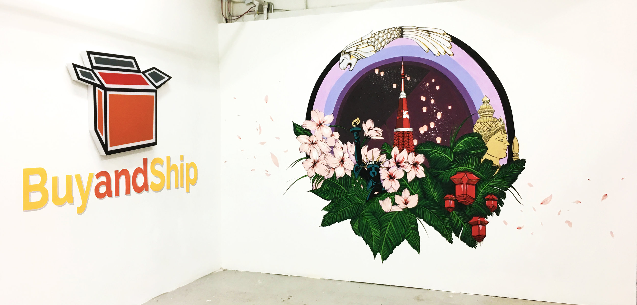 Mural | Sign lettering: BuyandShip