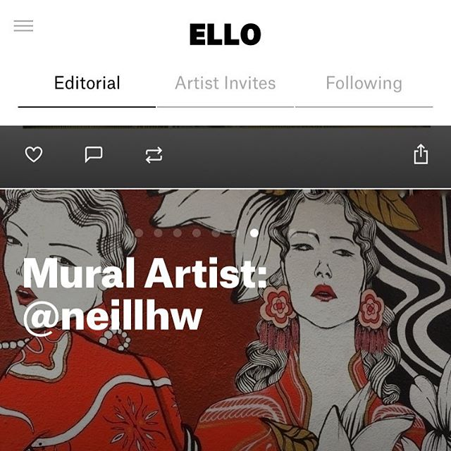 Woowoo, I got featured on ello's homepage ✨🤘 . . . . . #mural #hkwalls2018 #elloco #ello #hkwalls #art #editorial #onlinemagazine #magazine #illustration #wall #wallpainting @ellohype #illustration #urbanart #contemporaryart #contemporary #art #decoration #editorial #freehand #boutique #restaurant #bar #hotel #eicopaints @vans @vanshkg #vanshkg #montanacolors