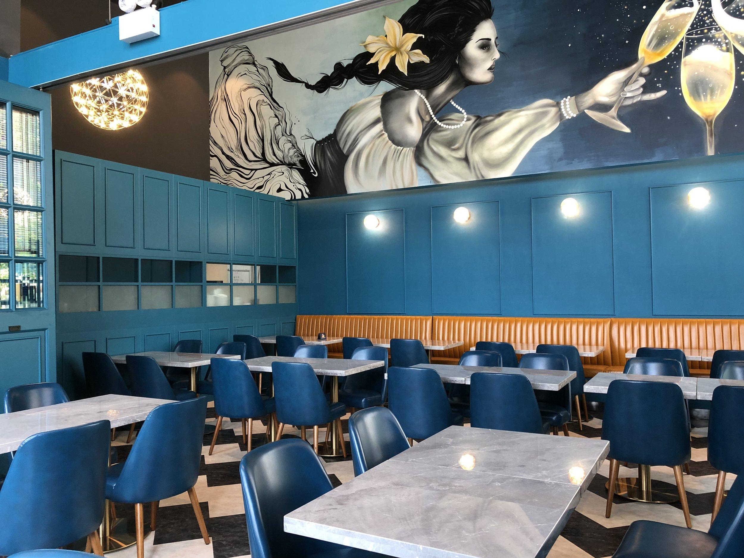 Sparkling House - Restaurant MuralLocation: Exchange Tower, Podium GardenKowloon Bay, HK(2018)
