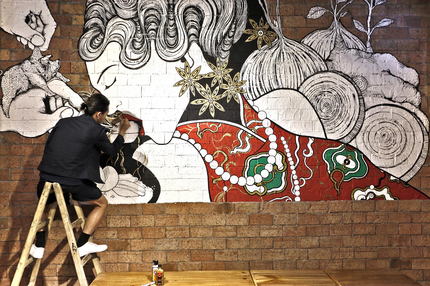 Long Feng Hao - Taiwanese Restaurant MuralLocation: Kwun Tong, HK(2017)